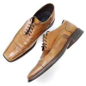 Pronto Uomo Derby Oxford Leather Lace Up Split Toe